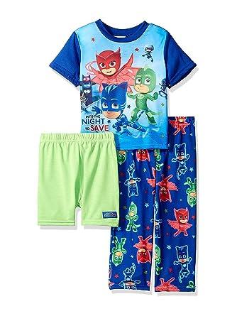 ae63a1f1aa61 Amazon.com  PJ Masks Toddler Boys 3 piece Shorts Pajama Set  Clothing