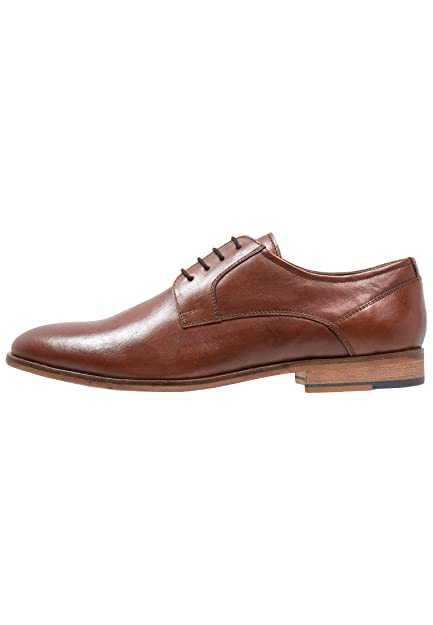 95124ad0a Pier One Men s Dress Shoes - Leather Lace-Up Derby Shoes with Simple  Stitching in