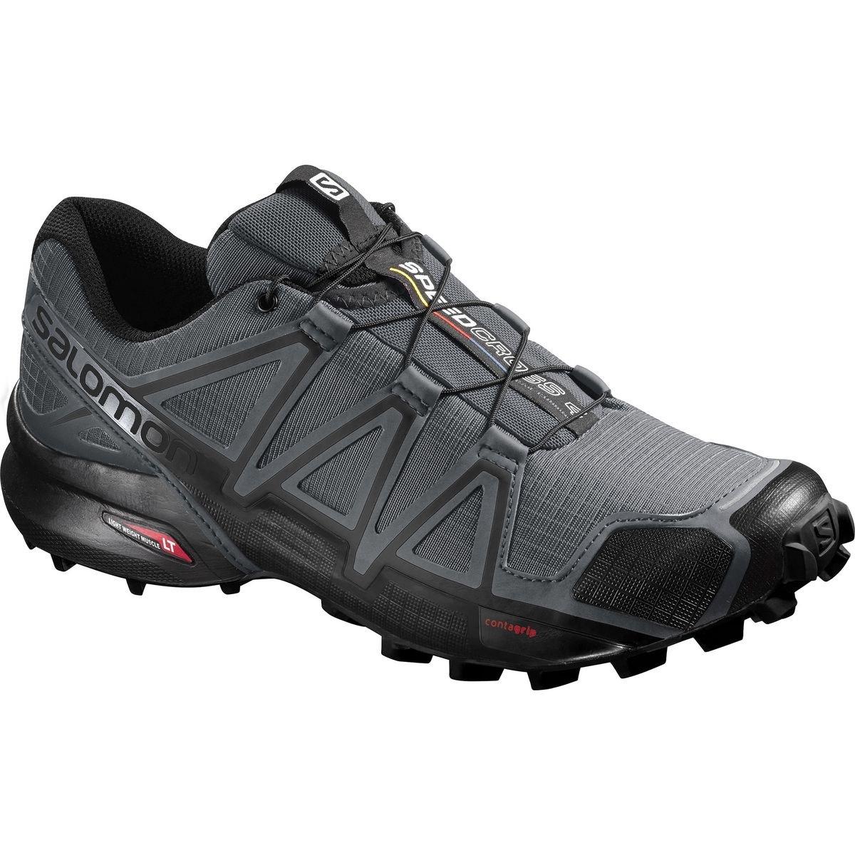 Salomon Speedcross 4 Trail-Running Shoes - Men's (M11, Dark Cloud)