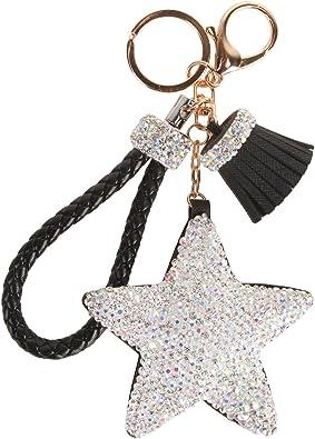 Amazon.com: Fawziya Crystals Tassel Star Women's Keyrings & Keychains-Black:  Shoes