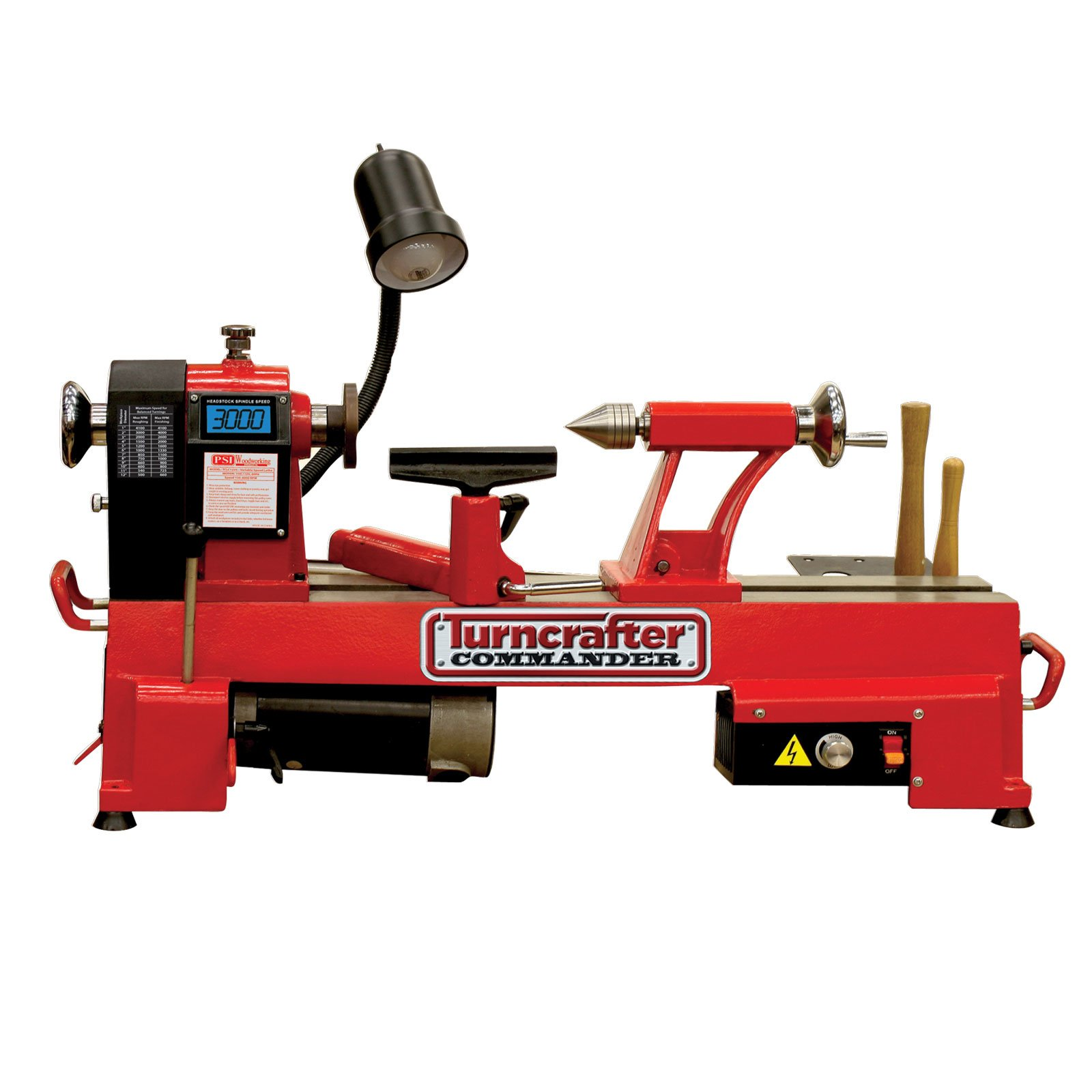PSI Woodworking KWL-1018VS Turncrafter Commander 10'' Variable Speed Midi Lathe