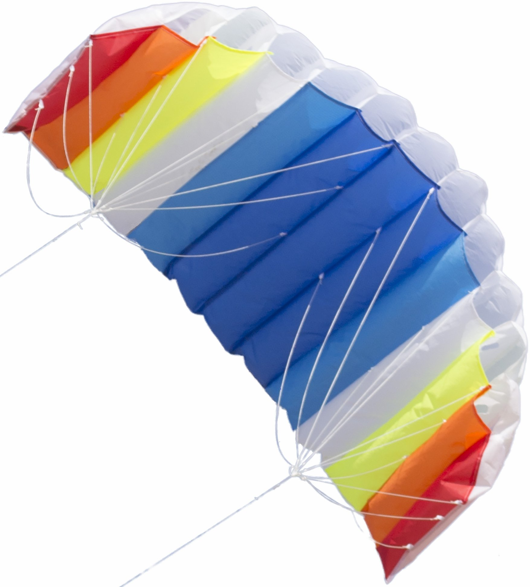 AIRFOIL STUNT SPORT KITE Dual-Line with Strings, Handles, Carry Bag, Winder, FREE Flying Tips eBook, Easy Assembly by Moon Glow Sports by Moon Glow Sports