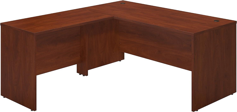 Bush Business Furniture Series C Elite 66W x 30D Desk Shell with 42W Return in Hansen Cherry