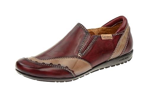 Pikolinos - Mocasines de cuero para mujer rojo rojo, color rojo, talla 38: Amazon.es: Zapatos y complementos