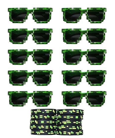 Gypsy Jade 8 bits Pixelated anteojos de Sol de Fiesta de ...