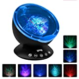 Amazon Price History for:[Upgraded Model] Ecandy Remote Control Ocean Wave Projector ,Aurora Night Light Projector with Build-in Speaker, Mood Light for Baby Nursery, Adults and Kids Bedroom, Living Room (Black)