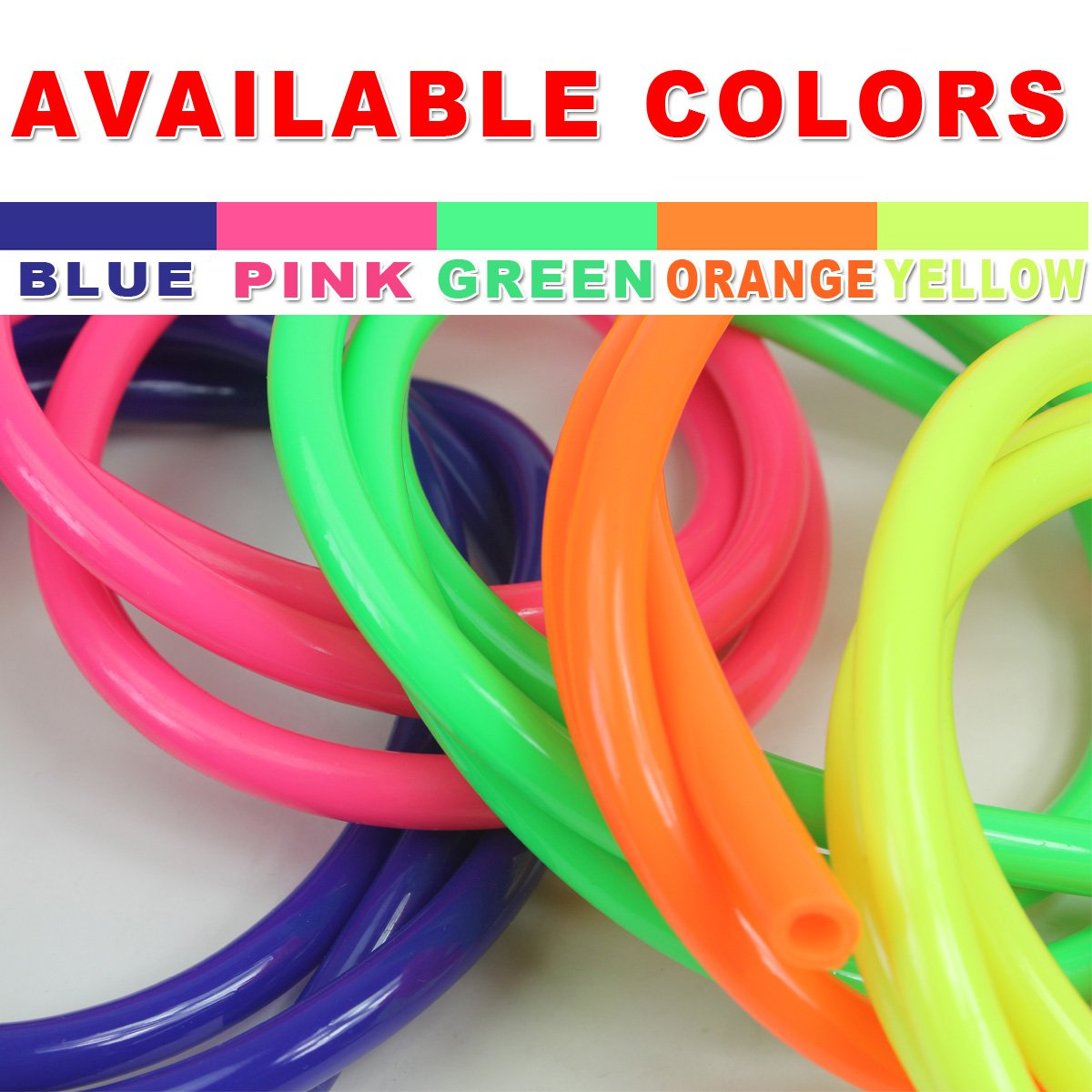 Wingsmoto 5mm Inner Dia Colorful Motorcycle Performance Fuel Tube Hose Line Blue B020-038-Blue