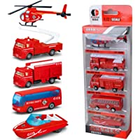 SolarLight 5 PCS Mini 1:72 Sliding Alloy Metal Construction Engineering Model Military Vehicle Toy Educational Toys for Toddlers Children (red)