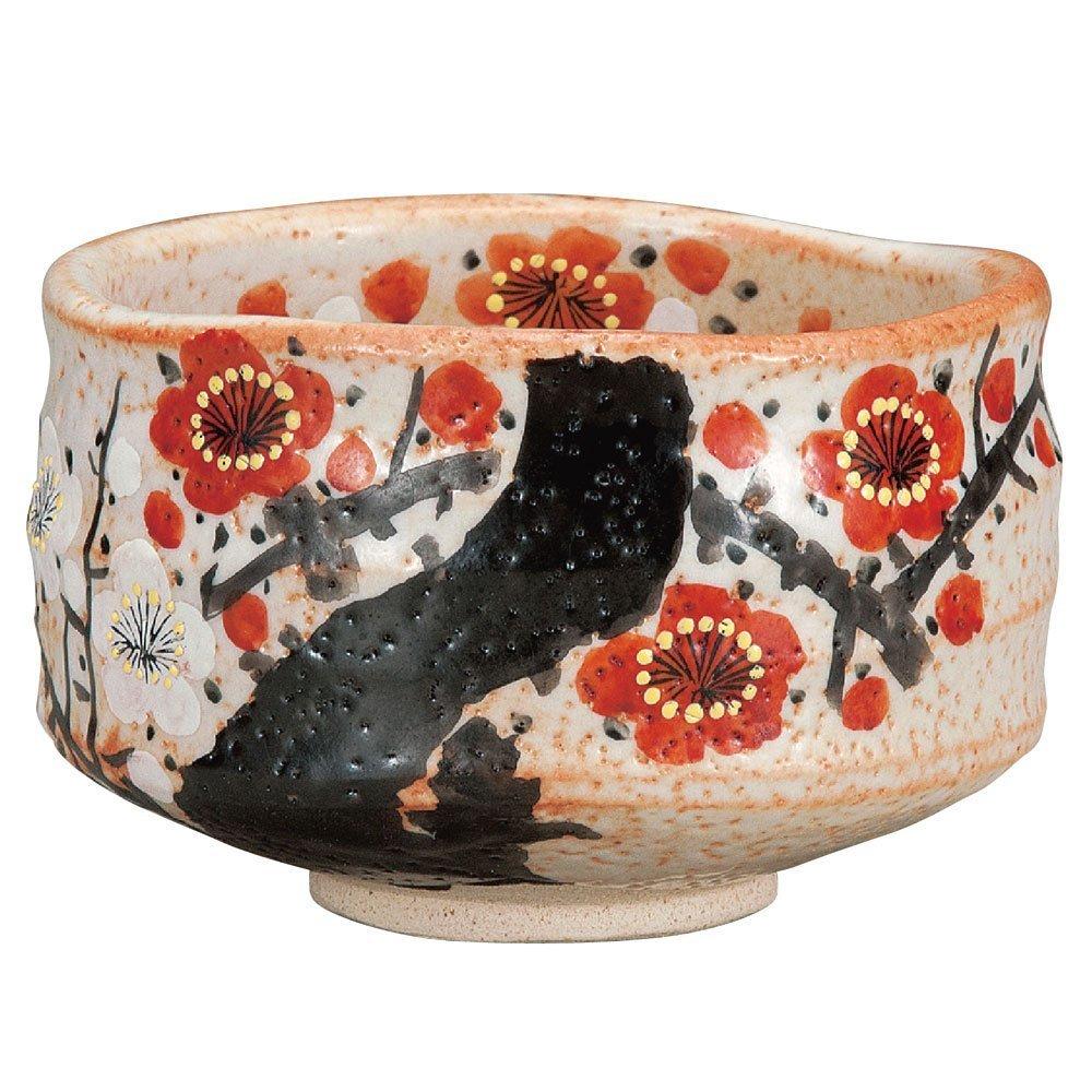 Japanese Matcha Bowl Plum Kutani Yaki(ware)