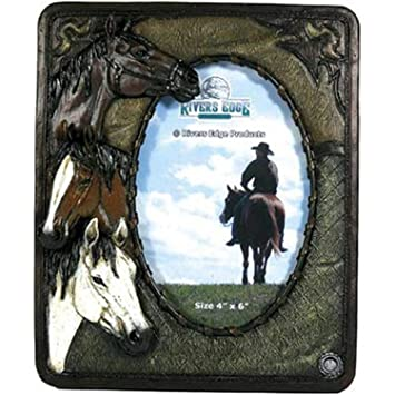 Rivers Edge Products 3 Horse Picture Frame, Picture Frames - Amazon ...