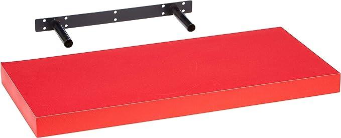 Estantes flotantes de pared 90x25cm Rojo URBNLIVING