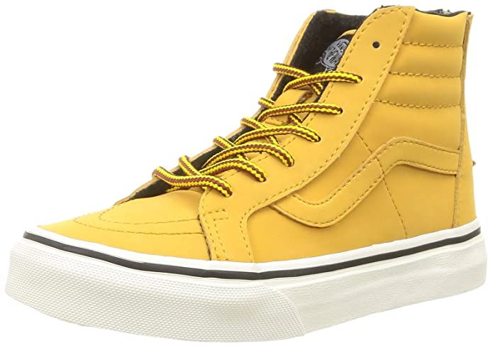 Vans Sk8-Hi Sneakers Kinder Unisex High Top Braun/Gelb