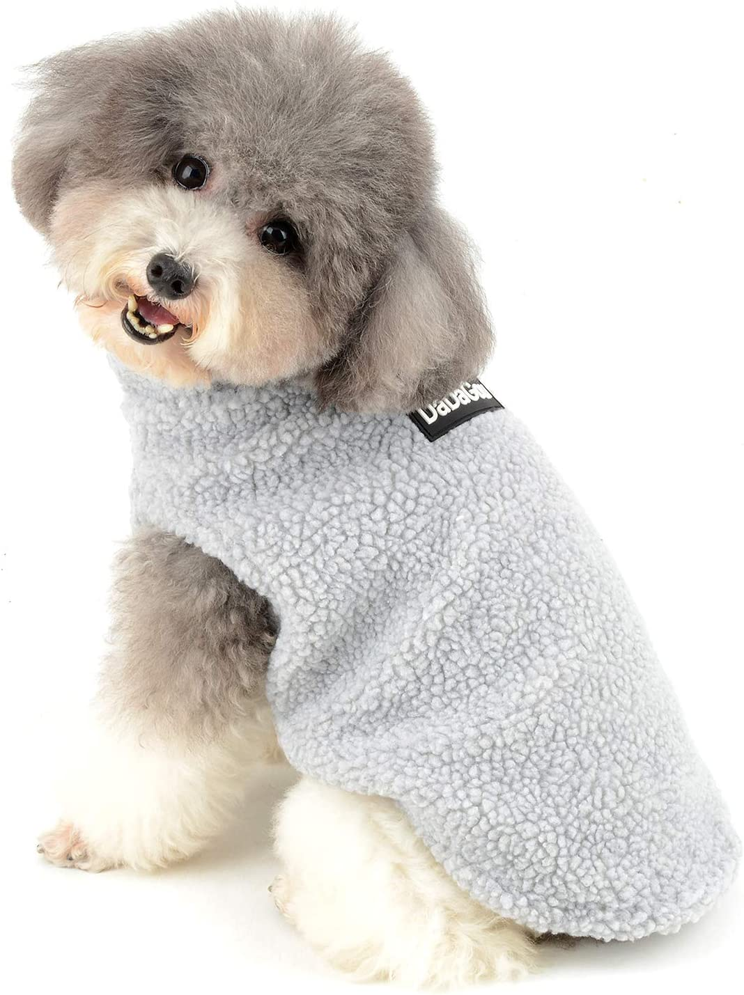 Ranphy Sherpa Fleece Small Dog Clothes for Boys Girls Winter Puppy Cat Coat Soft Vest Outfits Warm Sweater Chihuahua Yorkshire Terrier Parka Costume Apparel Cute Halloween Christmas Clothing Gray S