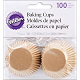 Wilton Unbleached Mini Baking Cups, 100 Count