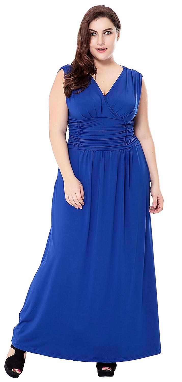 Vintage Inspired Bridesmaid Dresses, Mothers Dresses Preferhouse Womens Plus Size Evening Gowns Long Formal Maxi Dress $33.99 AT vintagedancer.com