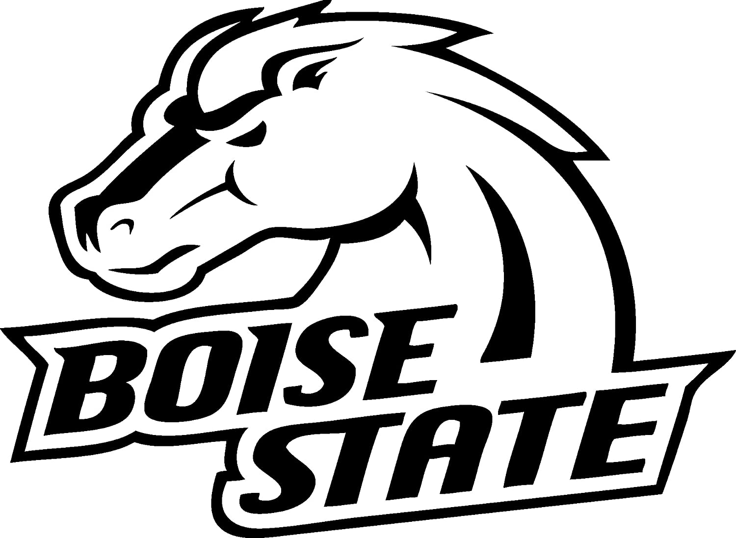 Amazon com boise state broncos vinyl decal sticker for car or truck windows laptops etc automotive