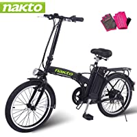 """NAKTO Electric Bike City Electric Bikes for Adults 6 Speed Ebike (250W/300W/500W) with 36V 10AH Removable Lithium Battery and 1 Year Warranty, (20""""/26"""") Electric Bicycle-2019 Newest"""