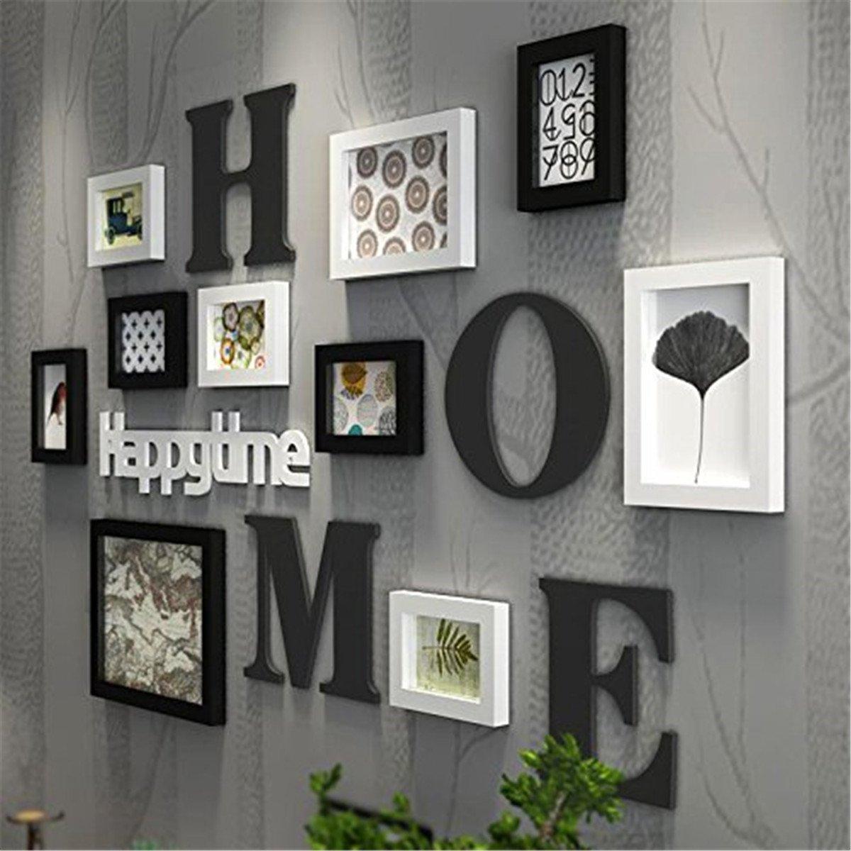 Massivholz Bilderrahmen - Schwarz und Weiß minimalistischen modernen ...