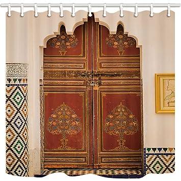 rrfwq Marokkanische Architektur Dusche Vorhänge für Badezimmer ...