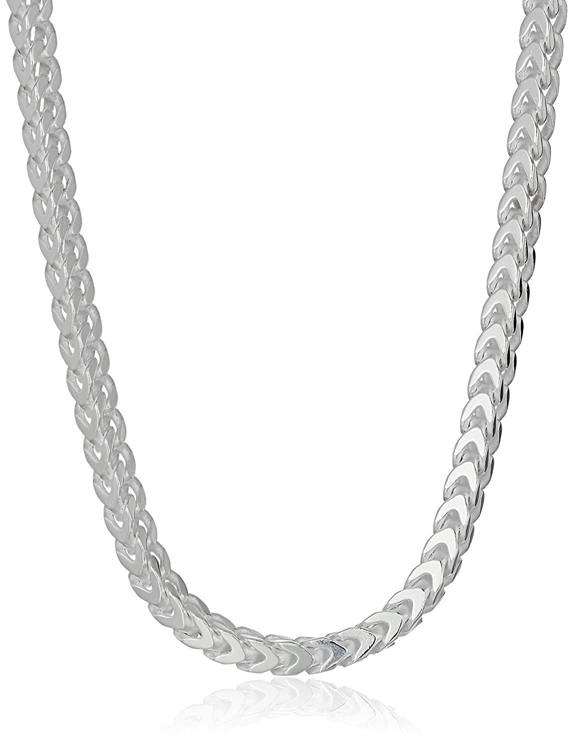 Sterling Silver 2.4mm Franco Chain Necklace 16 Amazon Collection S12511-16A