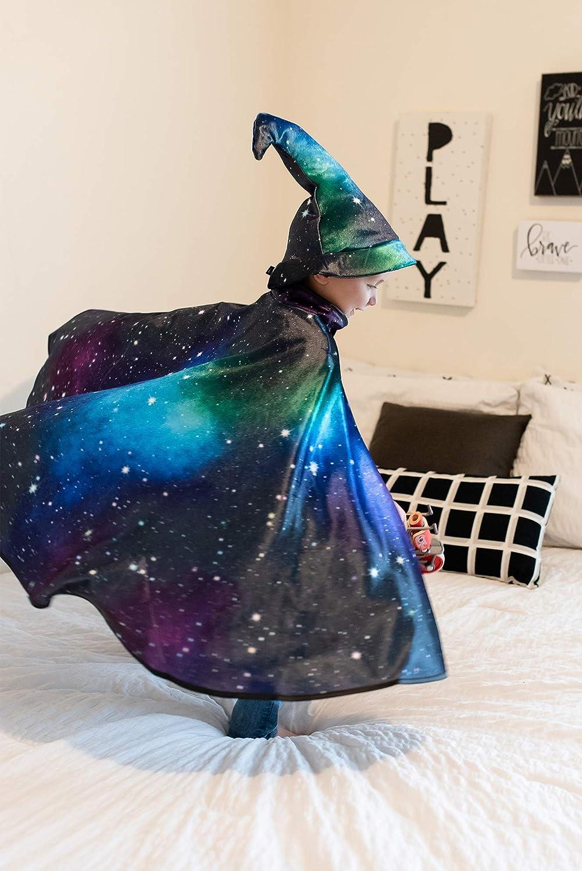 Black Little Adventures Galaxy Wizard Costume Cape Age 3