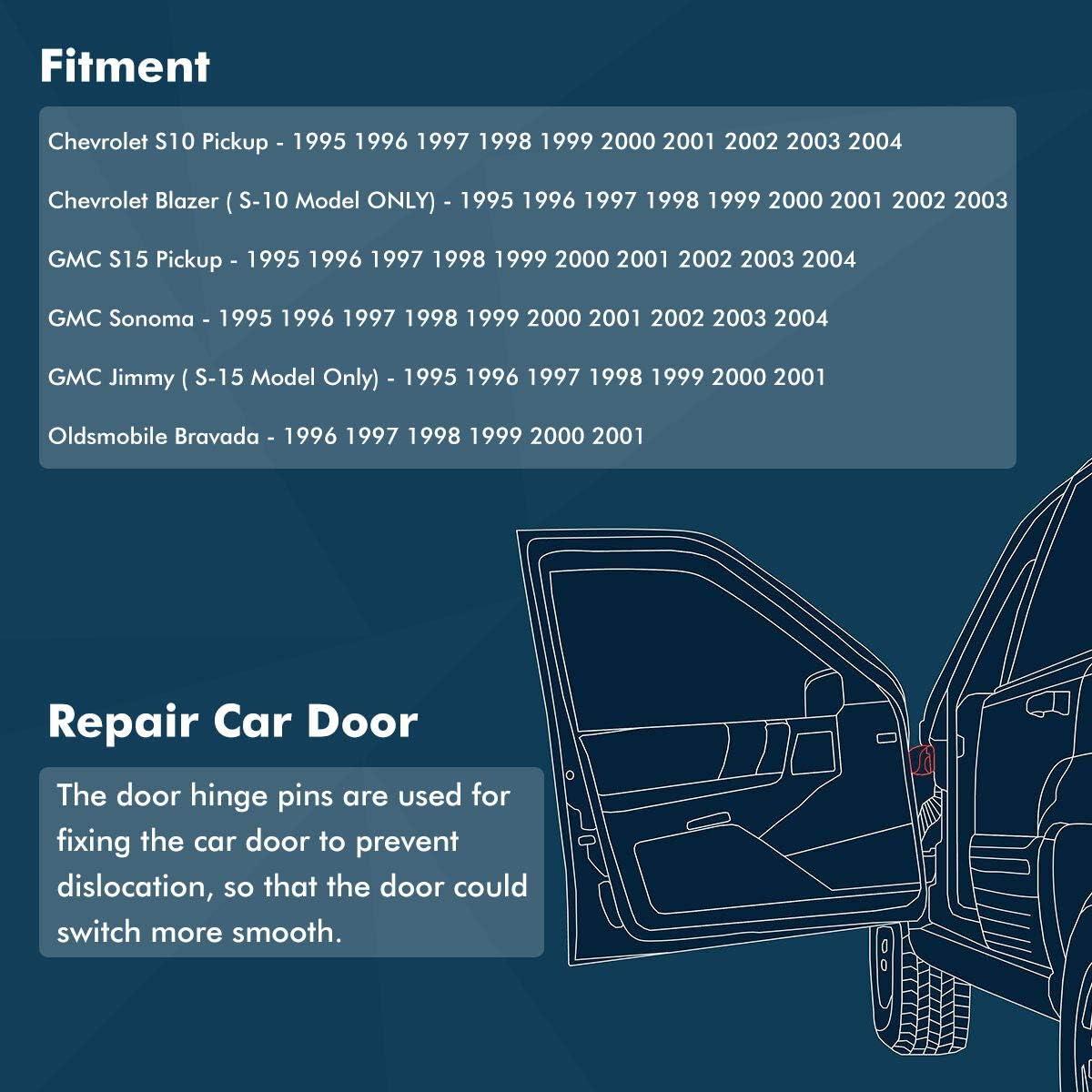 Newace Door Hinge Pin for 1994-2004 Chevy S10 /& GMC S15 Bushing Repair Kits 4 pins 2 Door