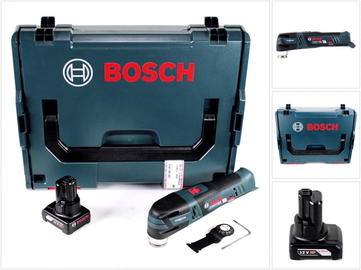 Bosch GOP 12V de 28Professional batería Multi Cutter Brushless con Star Lock en L-Boxx + 1x GBA 12V 6Ah Batería–sin cargador