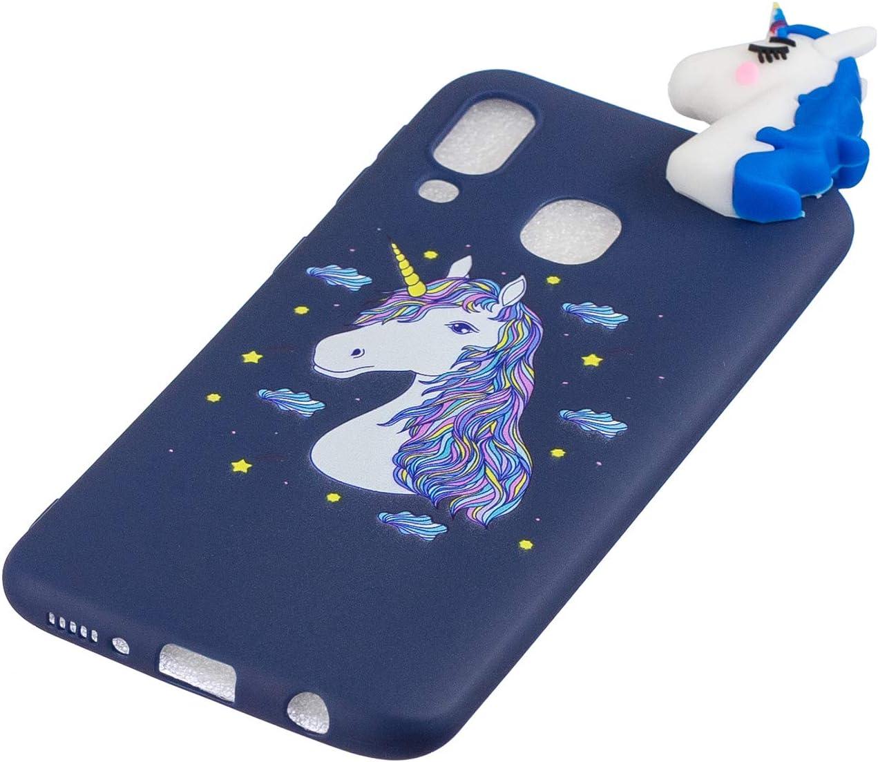 HUDDU Handyh/ülle Kompatibel mit Samsung Galaxy A40 H/ülle Silikon Ultra D/ünn Bumper Durchsichtig Case mit Motiv H/üllen Kawaii Muster Design Slim Cover Handytasche 3D Bunte Schutzh/ülle Etui 8 Schwein