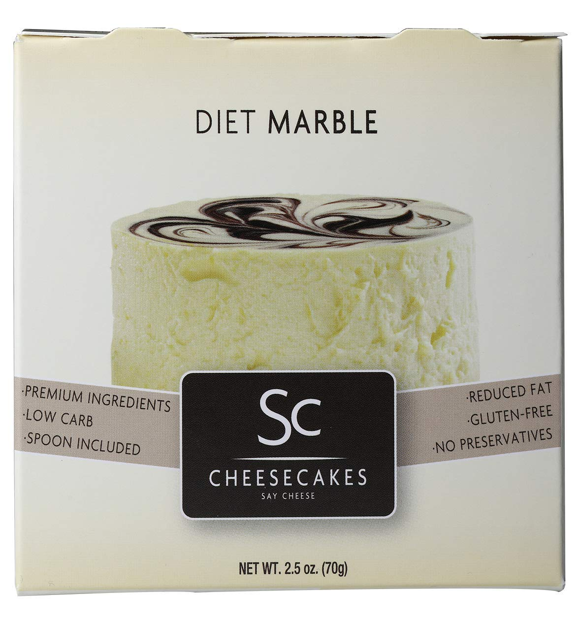 Pack of 12 Say Cheese Gourmet Mini Diet Cheesecake - Diet Marble by Say Cheese