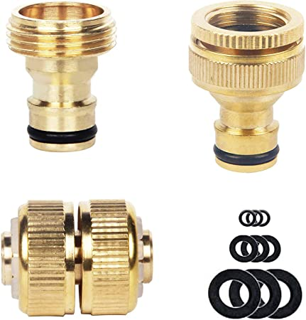 4 Tap Adapter Female Garden Hose Quick Connect Adopter Joiner Connector