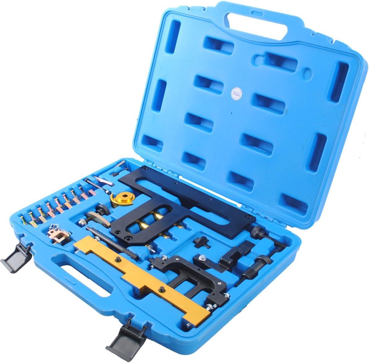 Cclife Motor Steuerkette Arretierwerkzeug Einstellwerkzeug Nockenwellen Kurbelwellen Kompatibel Mit Bnw N42 N46 N46t 1 8 2 0 Auto