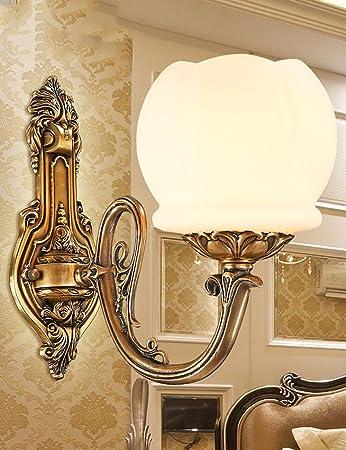 Perfekt CR Wandleuchte CHAOXIAN Continental Retro Komplette Kupfer Künstliche  Marmorwand Minimalist Wohnzimmer Schlafzimmer Den Restaurant Balkon  Badezimmer