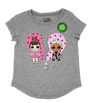 9f3f5dcea355 Amazon.com: MGA L.O.L. Surprise! LOL Glow In The Dark Surprise Girls T-Shirt:  Clothing