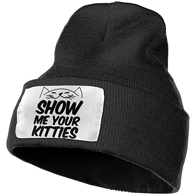 Show Me Your Kitties Unisex Adult Beanie Hats Knit Hat Winter Outdoor  Fashion Slouchy Warm Caps 5de31e514c5