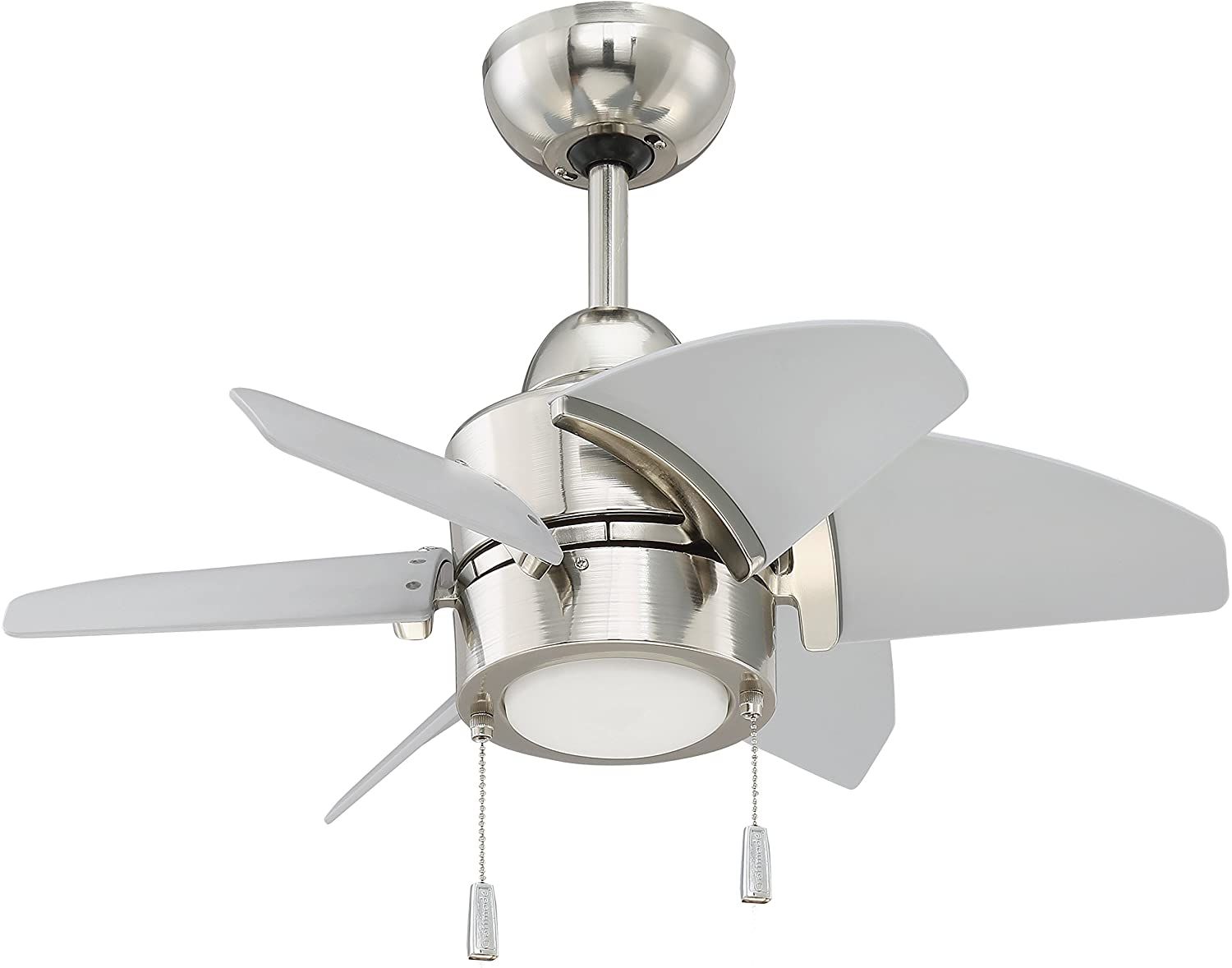 Craftmade Outdoor Ceiling Fan with LED Light PPL24PLN6 Propel 24 Inch for Patio, Polished Nickel