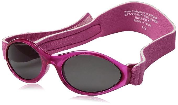 Baby Banz - Gafas de sol Ovaladas para niños, Rosa, 0-2 anos