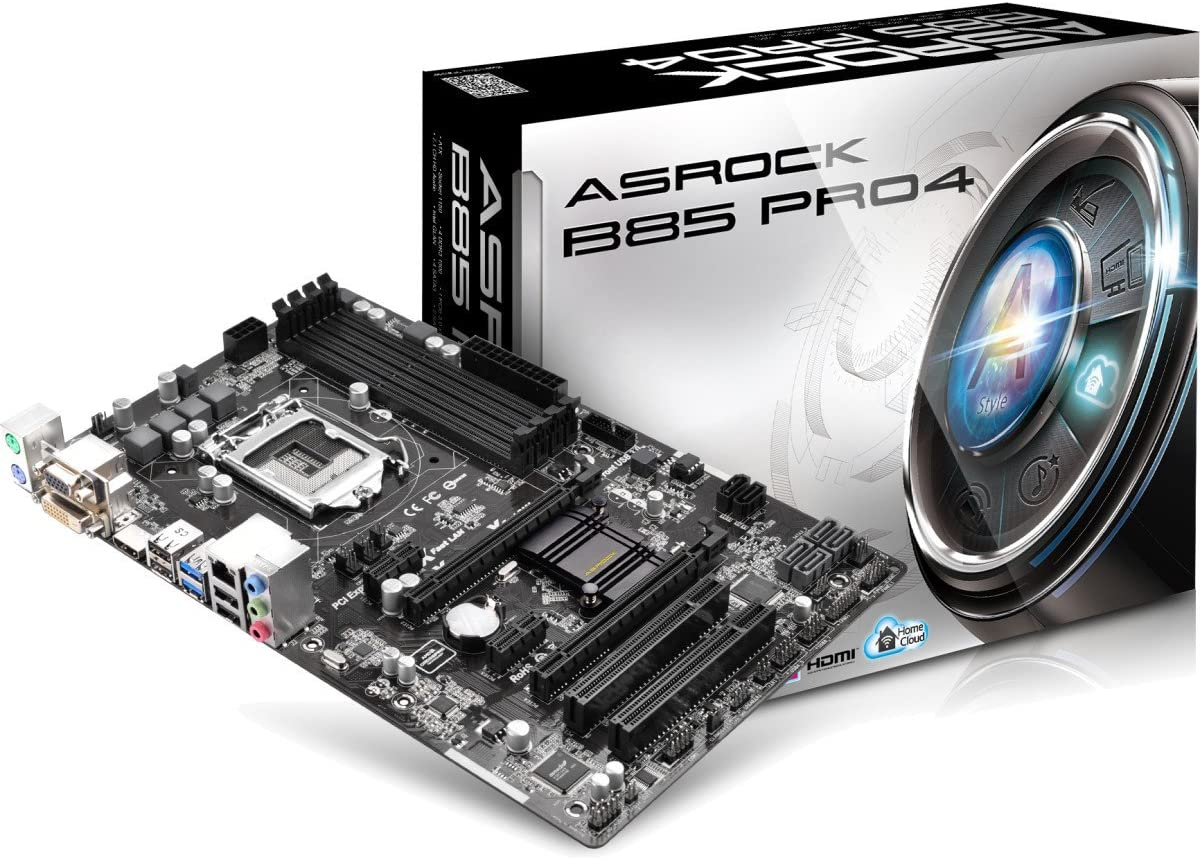 ASRock B85 Pro4 - Placa Base (DDR3-SDRAM, DIMM, Socket H3, 32 GB ...