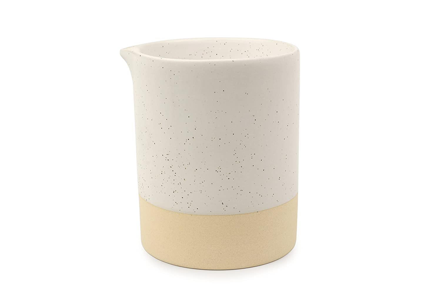 Paddywax Mesa Collection Scented Soy Wax Candle in Matte Speckled Ceramic, 10-Ounce, Black Salt & Birch