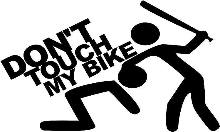 Folistick Dont Touch My Bike Sticker Dub Oem Motorcycle Sticker Black Auto