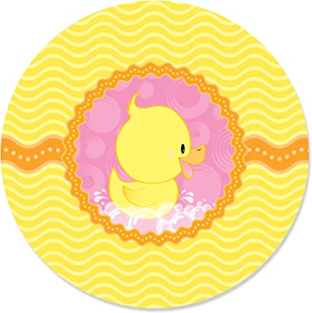 First Birthday Sticker 216+ Pink Rubber Ducky Kiss Stickers for Duck Party Favors Girl Baby Shower Kiss Label Candy Buffet 1st Birthday