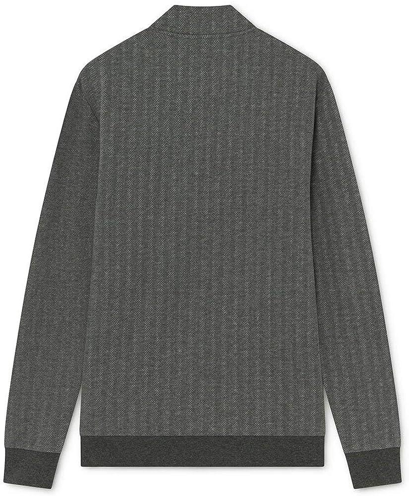 Hackett London Herren Hbone Jacqd Crew Sweater 933grey Marl