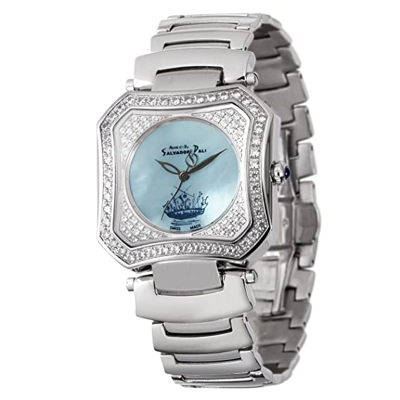 Auca 61 By Salvador Dali DCC005SUA - Reloj de caballero de cuarzo, correa de acero inoxidable color plata: Amazon.es: Relojes
