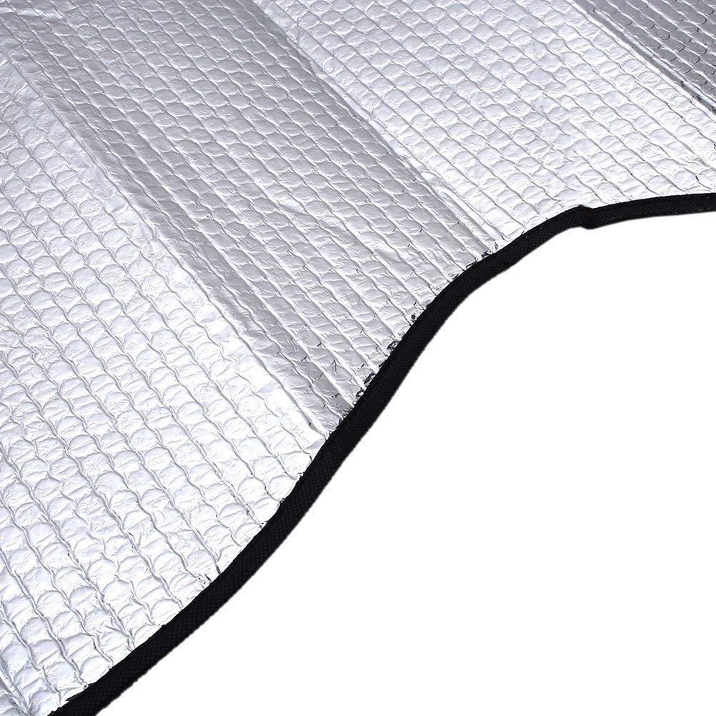 da 140 x 70 cm riflette in modo ottimale i raggi UV e il calore Leisial facile da usare; colore: argento largo parasole per il parabrezza anteriore degli autoveicoli