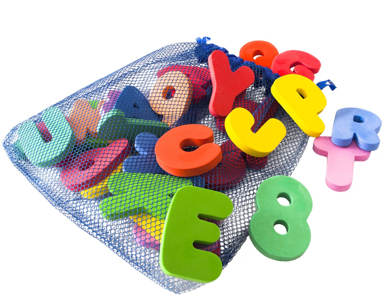 Amazon Freddie And Sebbie Bath Toys Non Toxic Luxury 36 Piece Set Letters Numbers With Toy Organizer Baby