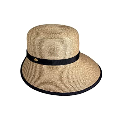 587d6524a10b05 Sun Hat for Women - Cappelli Straworld - Natural Toyo Straw Facesaver at  Amazon Women's Clothing store: Visors Headwear
