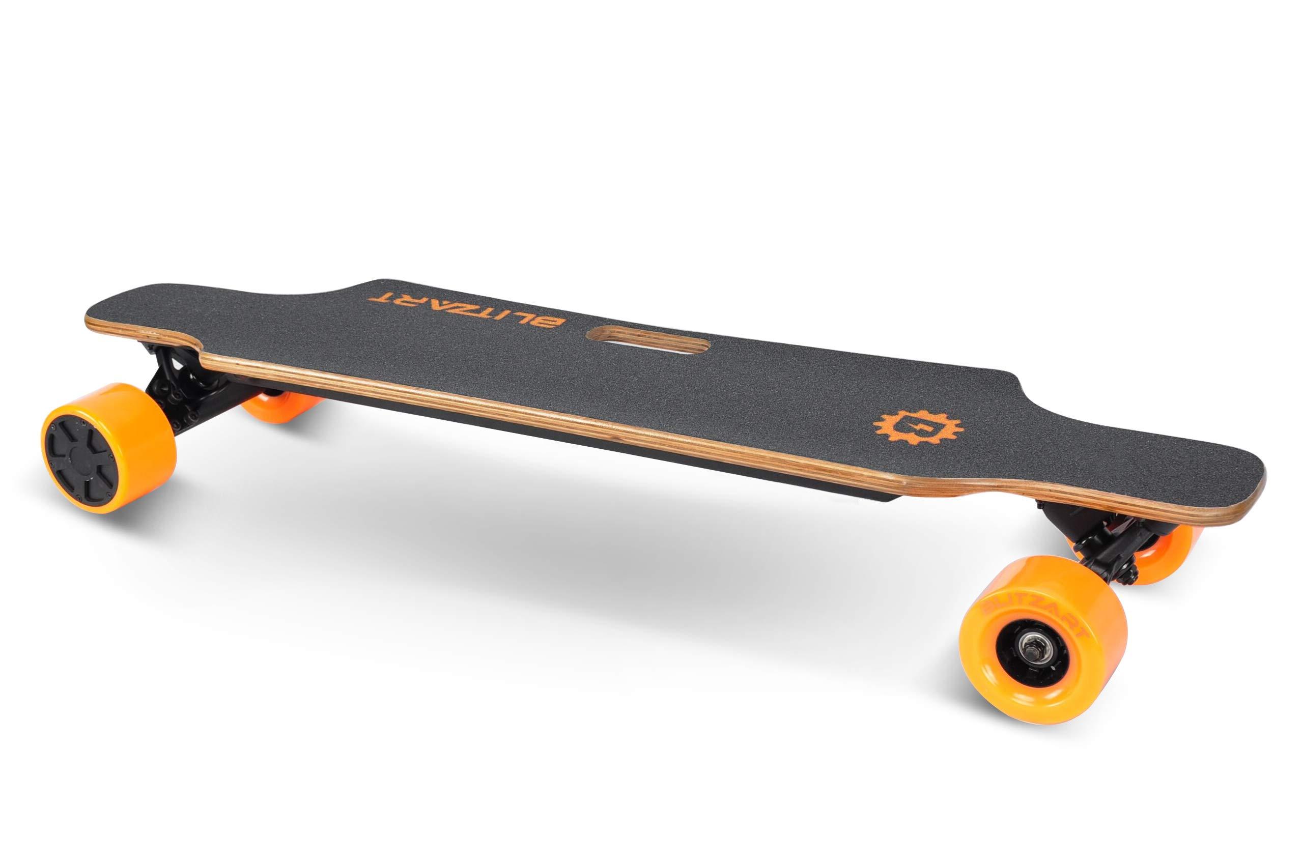 BLITZART Huracane 38'' Electric Skateobard Longboard E-Skateboard Motorized Electronic Hub-Motor 3.5'' Wheels