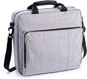 eLUUGIE Travel Carrying Bag Case for PS4 PRO Console Multifunctional Travel Storage Bag Handbag/Shoulder Bag for PS4 System and Accessories PS4 Pro/PS4/PS4 Slim (Grey)