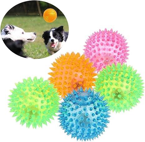ECMQS Pelota de Goma para Mascotas, Juguete para Perros, Gatos ...