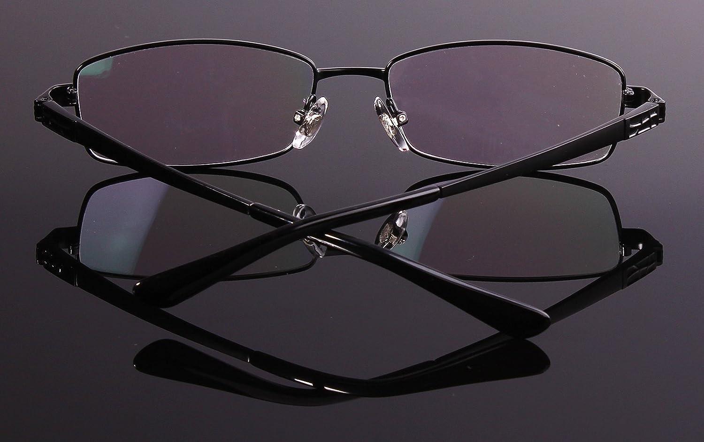05864f7fe2d Amazon.com  Agstum Pure Titanium Full Rim Glasses Frame Optical Eyeglasses  Rxable 54mm (Black