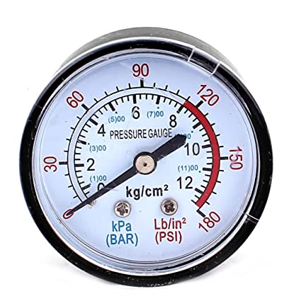 sourcingmap 13mm 1/4BSP Rosca Agua Compresor De Aire Manómetro Medidor